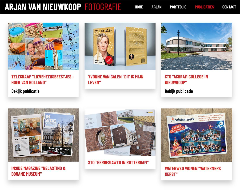 Website Arjan van Nieuwkoop